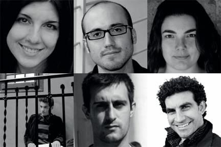 Xavier Bonfill, Raquel García Tomás, Joan Magrané, Octavi Rumbau, Cristina Cordero y Jordi Pérez Solé
