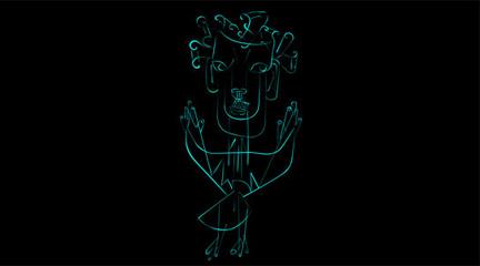 Dibujo de luz de Darya von Berner
