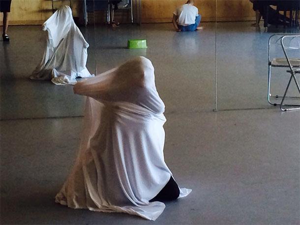 Primer ensayo de 'Angelus Novus' en los Teatros del Canal